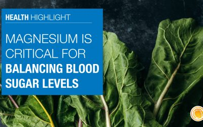 Magnesium is critical for balancing blood sugar levels
