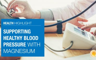 Supporting healthy blood pressure with Magnesium